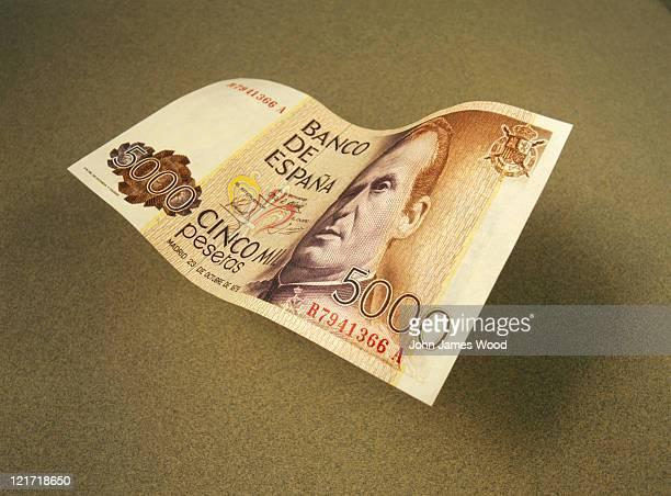 Spanish currency, 5,000 Pesetas note