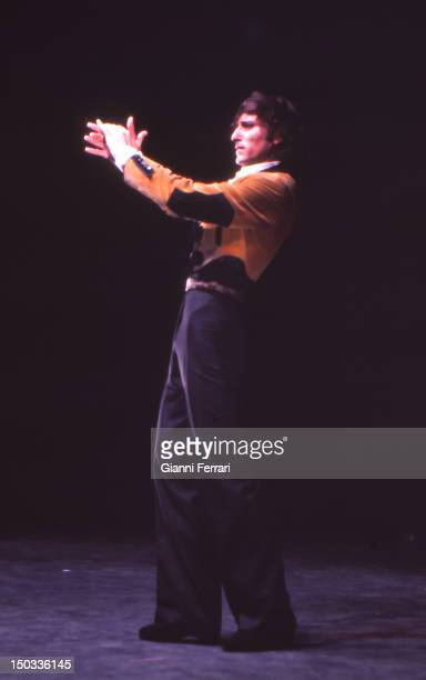 Spanish dancer Antonio Gades during a show Madrid Spain