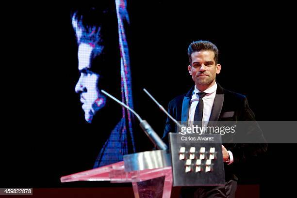 Spanish dancer Antonio Najarro receives the 'Danza' 2013 award at the Theater Canal on December 2 2014 in Madrid Spain