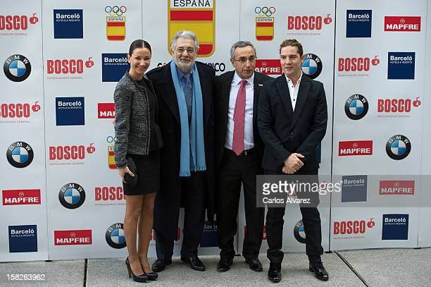 Spanish Dancer Cecilia Gomez, Spanish tenor Placido Domingo, President of Spain's Olympic Committee Alejandro Blanco and Spanish singer David Bisbal...