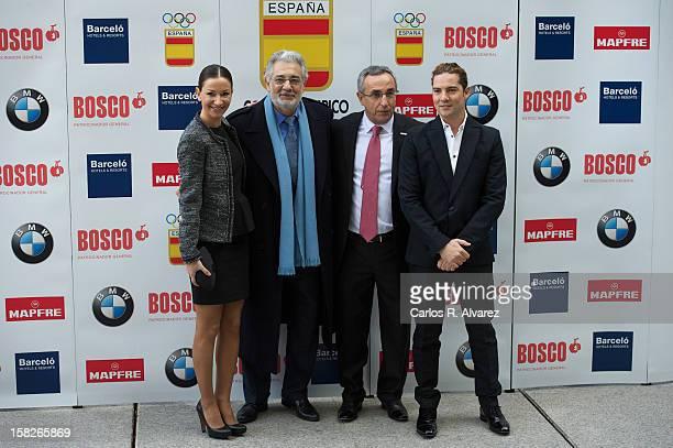 Spanish Dancer Cecilia Gomez, Spanish tenor Placido Domingo, President of Spain«s Olympic Committee Alejandro Blanco and Spanish singer David Bisbal...