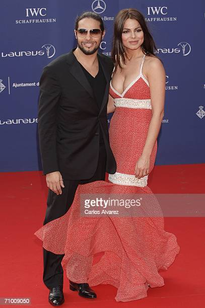 Spanish dancer Joaquin Cortes and girlfriend attend the Laureus World Sports Awards at Parc Del Forum on May 22, 2006 in Barcelona, Spain. The annual...