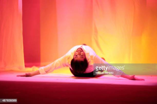 """Spanish dancer Joaquin Cortes performs on stage during the """"Gitano"""" Flamenco show press preview at the Tivoli theater on May 1, 2014 in Barcelona,..."""