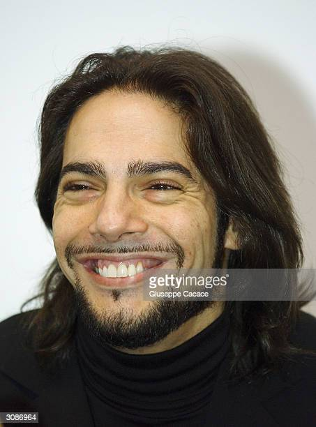 Spanish dancer Joaquin Cortes smiles during the press conference for Joaquin Cortes new ballet on March 15, 2004 in Milan, Italy. Spanish dancer...