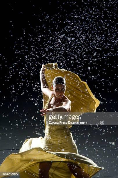 Spanish dancer Sara Baras on set filming 'Freixenet' cava spot on November 30, 2011 in Madrid, Spain.