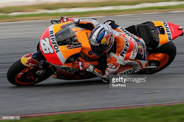 Spanish Dani Pedrosa of Repsol Honda Team in action during day two of Sepang MotoGP test 2 at Sepang International Circuit near Kuala Lumpur Malaysia...