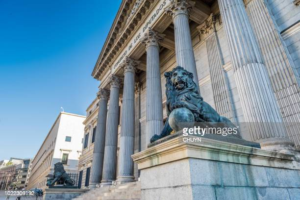 spanish democracy - congress of deputies stock pictures, royalty-free photos & images
