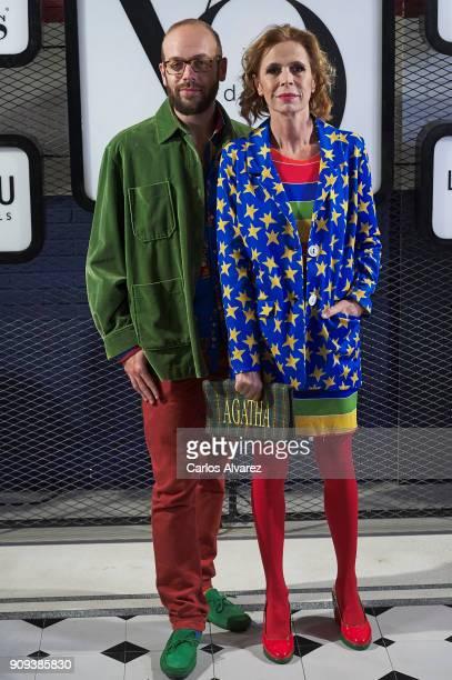 Spanish designer Agatha Ruiz de la Prada and his son Tristan Ramirez attend the 'Yo Dona' party at Only You Hotel Atocha on January 23 2018 in Madrid...