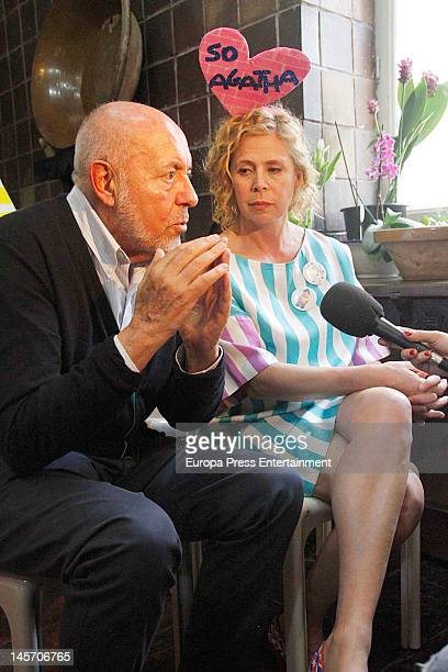 Spanish designer Agatha Ruiz de la Prada and Italian designer Elio Fiorucci present the book 'Agatha Ruiz de la Prada Loves Elio Fiorucci Arte y Moda...