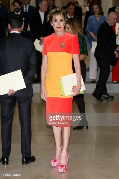Spanish designer Agatha Ruiz de la Prada attends the National Culture Awards at El Prado Museum on March 19 2019 in Madrid Spain