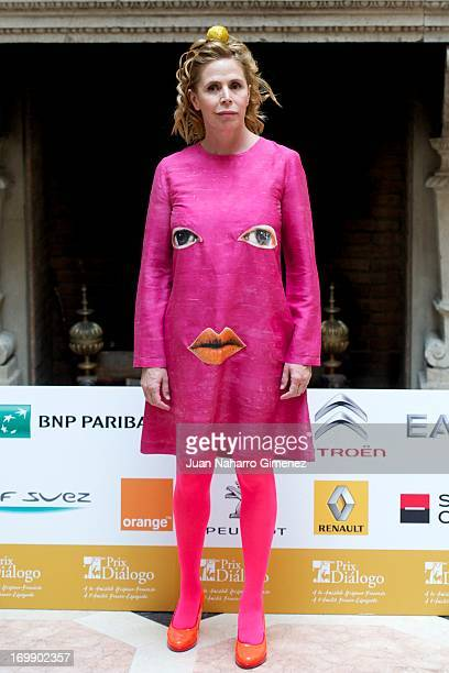Spanish designer Agatha Ruiz de la Prada attends the 'Prix Dialogo' press conference at the French Embassy on June 4 2013 in Madrid Spain