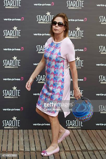 Spanish designer Agatha Ruiz de la Prada attends the 'Pure Starlite' party presentation at the Hotel Puro on May 26 2015 in Madrid Spain