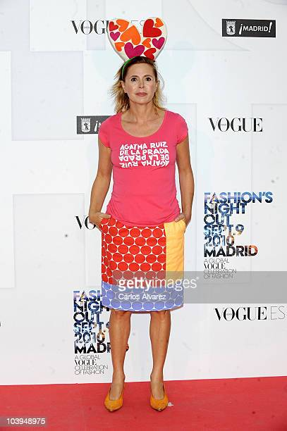 Spanish designer Agatha Ruiz de la Prada attends 'Vogue Fashion Night Out 2010' on September 9 2010 in Madrid Spain