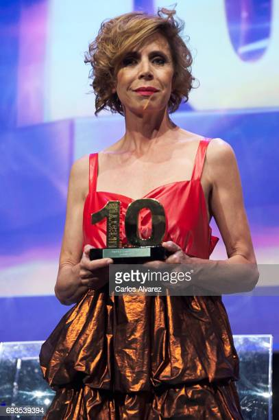 Spanish designer Agatha Ruiz de la Prada receives the 'Lifestyle' award 2017 at the Casa Encendida Cultural Center on June 7 2017 in Madrid Spain