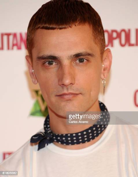 Spanish designer David Delfin attends Cosmopolitan TV party at the Real Cafe Bernabeu July 02 2008 in Madrid Spain