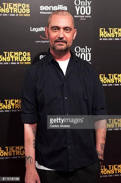 Spanish designer David Delfin attends 'El Tiempo De Los Monstruos' premiere at Palacio de la Prensa cinema on September 28 2016 in Madrid Spain