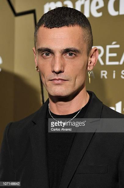 Spanish designer David Delfin attends Marie Claire Prix de la Moda Awards 2010 at French Embassy on November 25 2010 in Madrid Spain