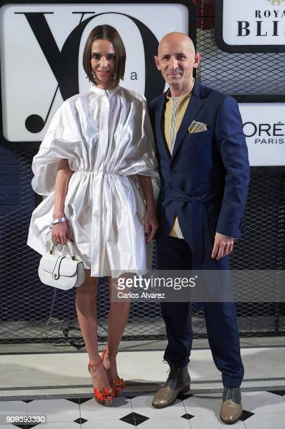 Spanish designer Modesto Lomba and Lola Munoz attend the 'Yo Dona' party at Only You Hotel Atocha on January 23 2018 in Madrid Spain