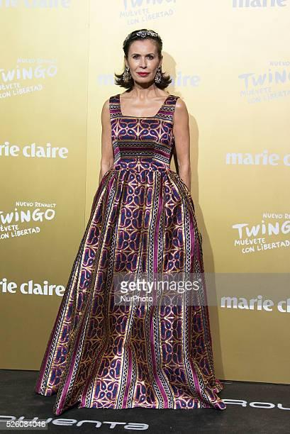 Spanish designer Teria Yabar attends the Marie Claire Prix de la Moda 2015 at the Callao cinema on November 19 2015 in Madrid Spain