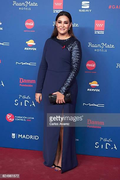 Spanish designer Vicky Martin Berrocal attends 'Gala Sida' 2016 at Madrid City Hall on November 21 2016 in Madrid Spain