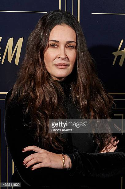 Spanish designer Vicky Martin Berrocal attends the Balmain and HM Collection launch party at the Neptuno Palace on November 3 2015 in Madrid Spain