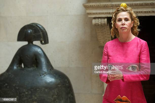 Spanish designers Agatha Ruiz de la Prada attends the 'X Prix Dialogo' awards at the French Embassy on June 4 2013 in Madrid Spain