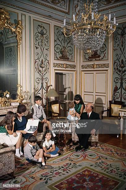 Spanish dictator General Francisco Franco with his wife Maria del Carmen Polo MartinezValdes and their grandchildren