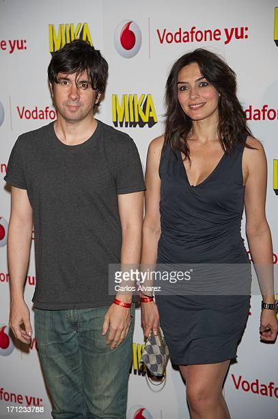 Spanish director Eduardo Chapero Jackson and Marta Fernandez attend the Mika's concert at the La Riviera Club on June 23 2013 in Madrid Spain