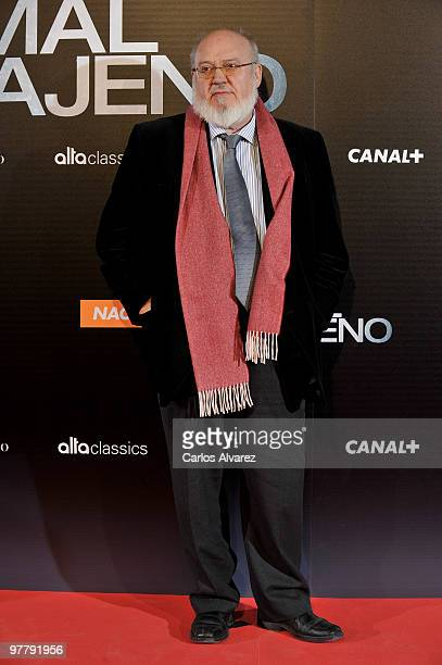 Spanish director Jose Luis Cuerda attends the 'El Mal Ajeno' premiere at the Capitol cinema on March 16 2010 in Madrid Spain