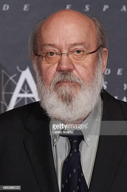 Spanish director Jose Luis Cuerda attends the Golden Medal 2015 ceremony at Academia de Cine on November 2 2015 in Madrid Spain