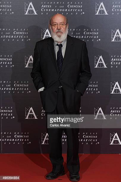 Spanish director Jose Luis Cuerda attends the Golden Medal 2015 ceremony at Academia de Cine on November 2 2015 in Madrid Spain