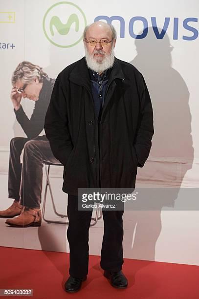Spanish director Jose Luis Cuerda attends the 'Que fue de Jorge Sanz' premiere at the Proyecciones cinema on February 10 2016 in Madrid Spain
