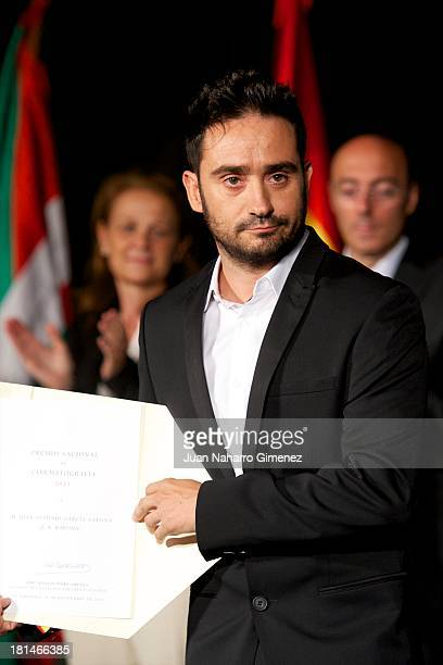 Spanish director Juan Antonio Bayona attends National Prize of Cinematography at Museo San Telmo during 61st San Sebastian Film Festival on September...