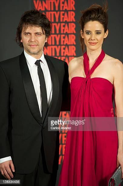 Spanish director Juan Carlos Fresnadillo and actress Pilar Lopez de Ayala attend 'Man of the Year 2011' Vanity Fair Award at 'Museo de America' on...