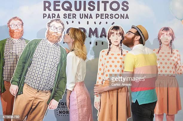Spanish director Leticia Dolera and actor Manuel Burque attend 'Requisitos Para Ser Una Persona Normal' photocall at the Palafox cinema on June 3...