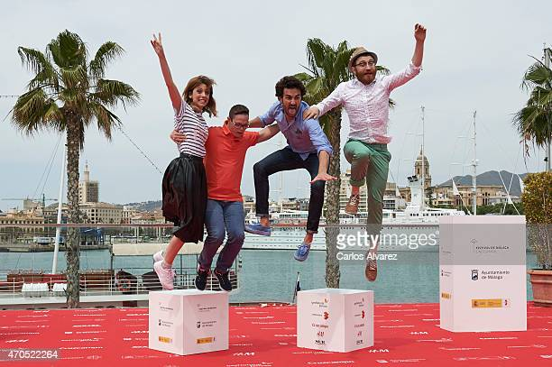 Spanish director Leticia Dolera and actors Jordi Llodra Miki Esparbe and Manuel Burque attend the Requisitos PAra Ser Una PErsona Normal photocall...