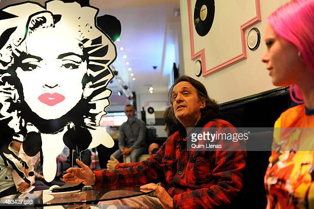 """Spanish director Manuel Iborra and actress Maria Forque attend the press conference for """"The Leftlovers"""" at A Quien le Importa bar on April 8, 2014..."""