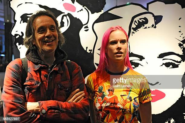 """Spanish director Manuel Iborra and actress Maria Forque pose for a photo shoot after the press conference for """"The Leftlovers"""" at A Quien le Importa..."""