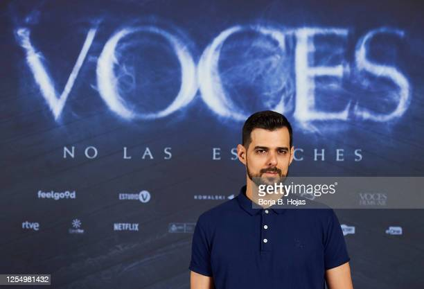 Spanish director Ángel Gomez during photocall of 'Voces' film at Cines Verdi on July 08 2020 in Madrid Spain
