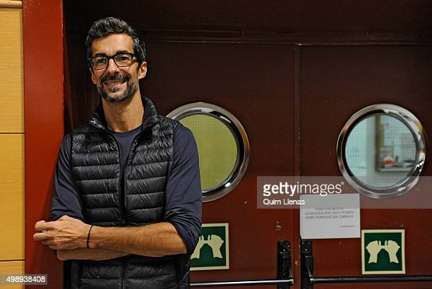 Spanish director of the National Dance Company Jose Carlos Martinez poses for a portrait session before a rehearsal for his choreography of 'Don...