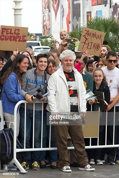 Spanish director Pedro Almodovar arrives at the Maria Cristina Hotel during the 62nd San Sebastian International Film Festival on September 24 2014...