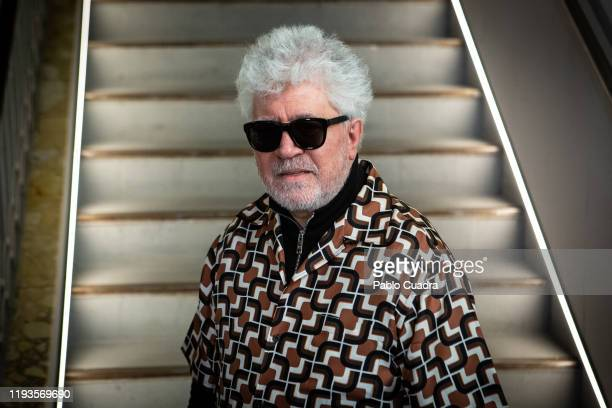 Spanish director Pedro Almodovar attends Dolor Y Gloria's extended version film screenplay presentation at Sala Equis on December 12, 2019 in Madrid,...