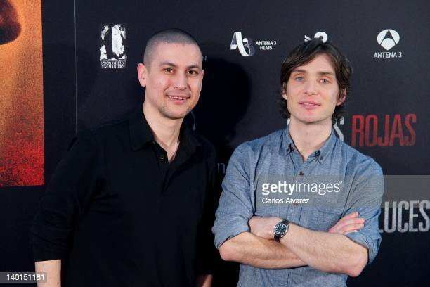 Spanish director Rodrigo Cortes and actor Cillian Murphy attend Red Lights photocall at ME Hotel on February 29 2012 in Madrid Spain