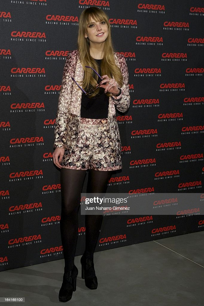Spanish Dj Laura Hayden attends 'Carrera Ignition Night' party at Matadero on March 20, 2013 in Madrid, Spain.