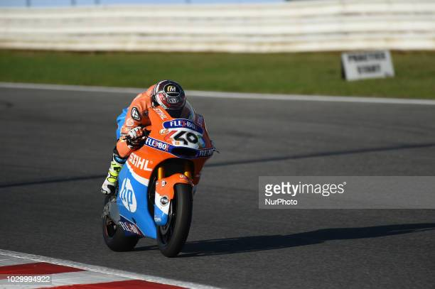 40 Spanish driver Hector Barbera of Team Pons HP40 driving during warm up in Misano World Circuit Marco Simoncelli in Misano Adriatico for San Marino...