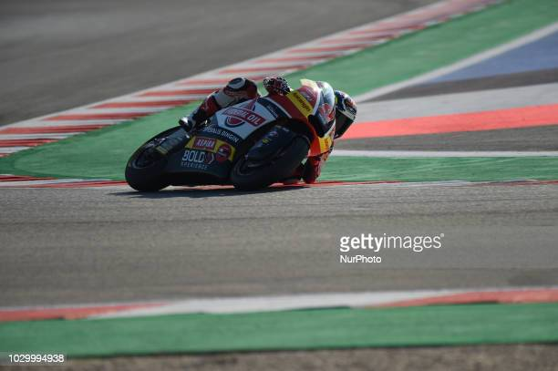 9 Spanish driver Jorge Navarro of Team Federal Oil Gresini driving during warm up in Misano World Circuit Marco Simoncelli in Misano Adriatico for...