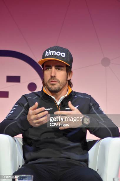 Spanish Driver of Formula 1 and Double Formula 1 World Champion Fernando Alonso during the Conference of The Fourth Industrial Revolution in the...