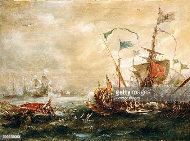 Spanish engagement with Barbary pirates First Half of 17th century Found in the collection of National Maritime Museum Greenwich Artist Eertvelt...