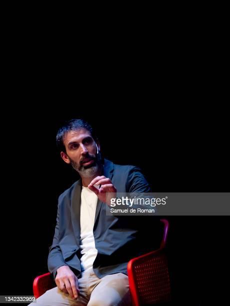 Spanish ex basketball player Berni Rodriguez attends the International Sport Forum on September 24, 2021 in Leon, Spain.