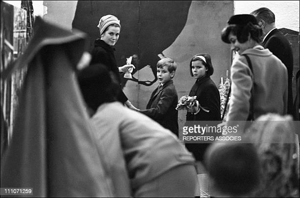 Spanish Expo Princess Grace Prince Albert And Princess Caroline In Monaco On March 1967